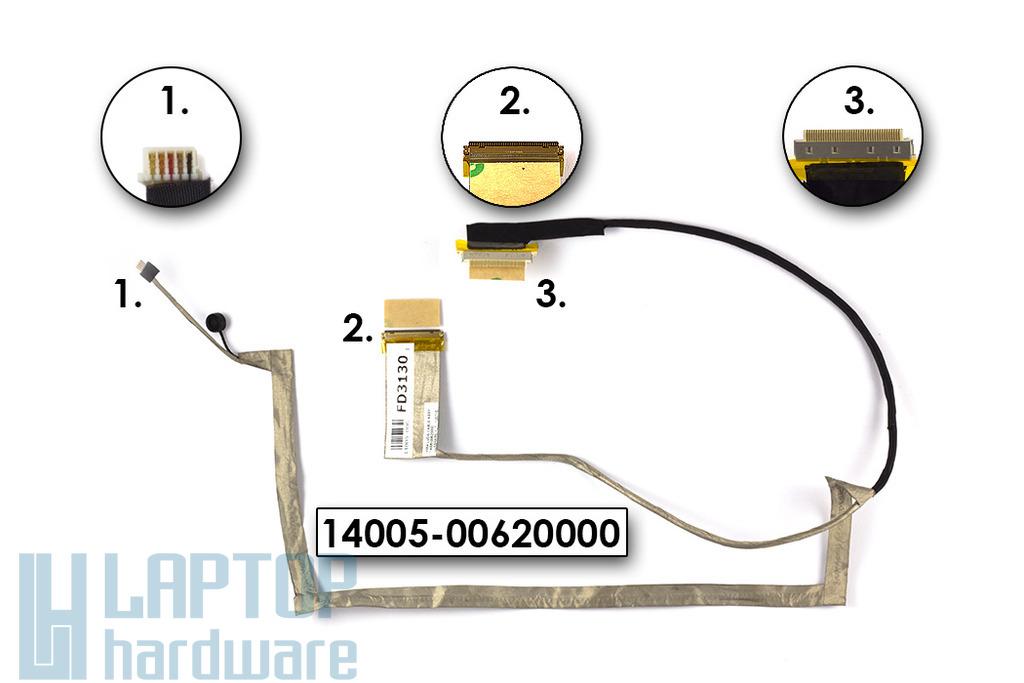 Asus X55A laptop Gyári új LCD kábel, 14005-00620000