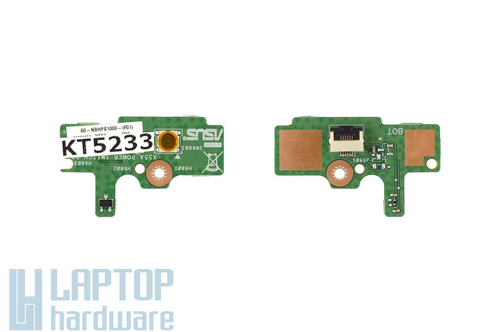 Asus X55A laptophoz gyári új bekapcsoló panel, 90R-NBHPS1000U