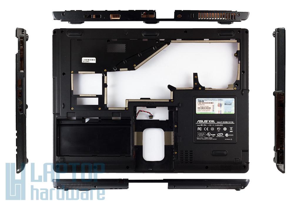 Asus X51L, X58L laptophoz használt alsó fedél hangszóróval (13GNQN10P011-1, 13GNQN10P021-1)