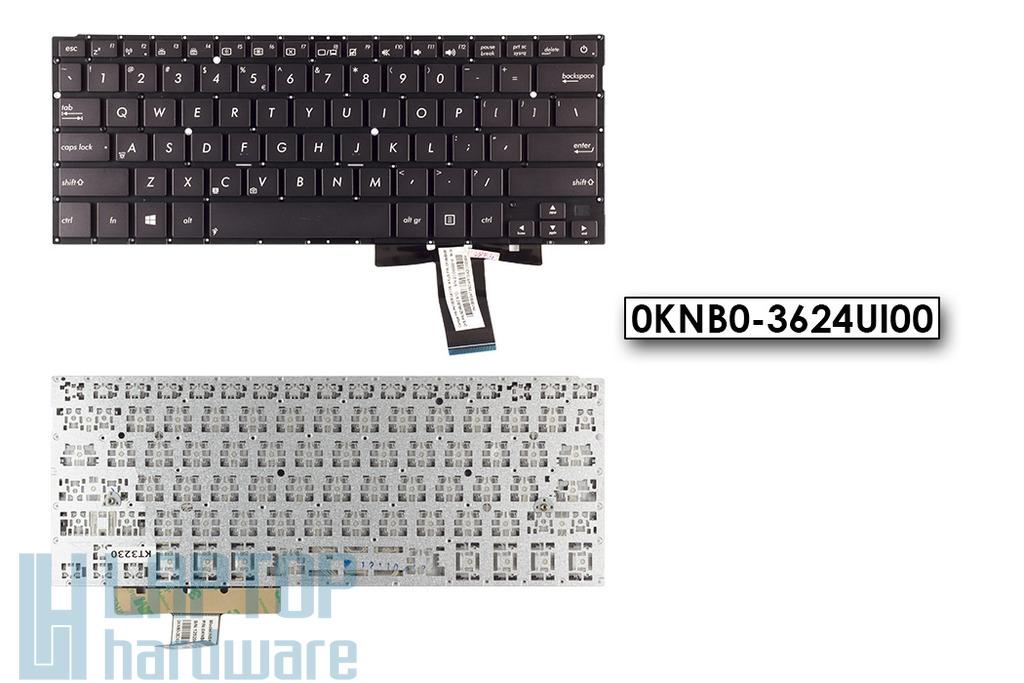 Asus ZenBook UX31 gyári új US angol fekete laptop billentyűzet (0KNB0-3624UI00)