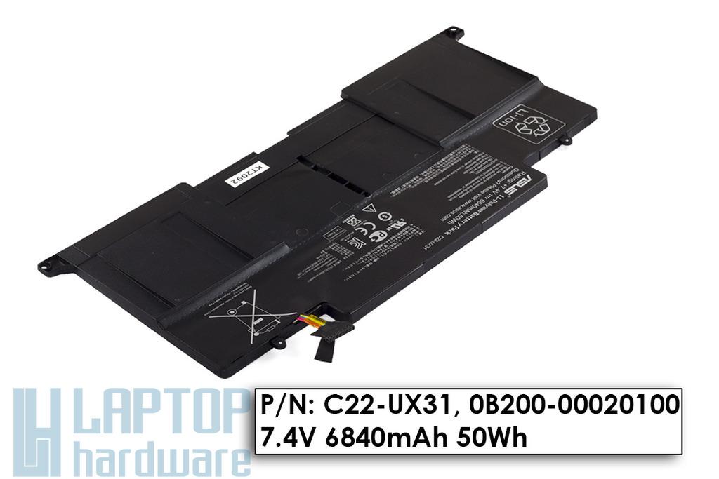 Asus ZenBook UX31, UX31A gyári új laptop akku/akkumulátor  C22-UX31, 0B200-00020100