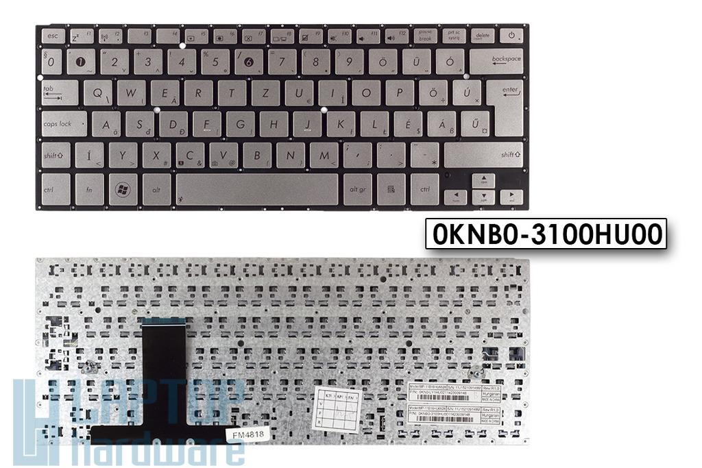 Asus ZenBook UX31A gyári új magyar ezüst laptop billentyűzet (0KNB0-3100HU00)