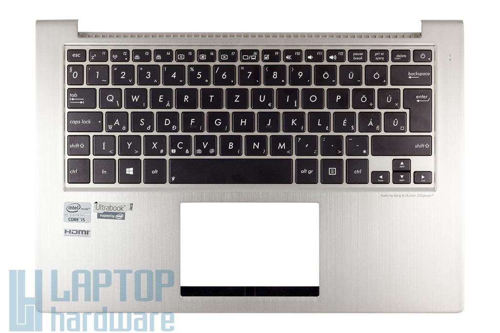Asus ZenBook UX32A, UX32VD gyári új magyar ezüst háttér-világításos laptop billentyűzet, 13GNPO1AM062-1
