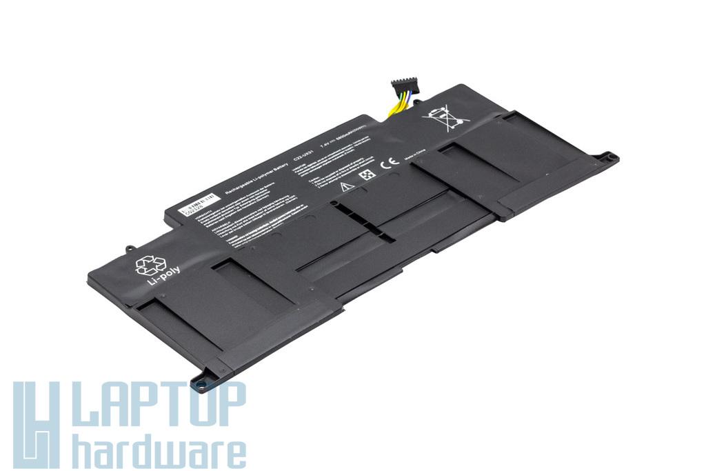 Asus ZenBook UX31A, UX31E helyettesítő új 6 cellás laptop akku/akkumulátor (C22-UX31)