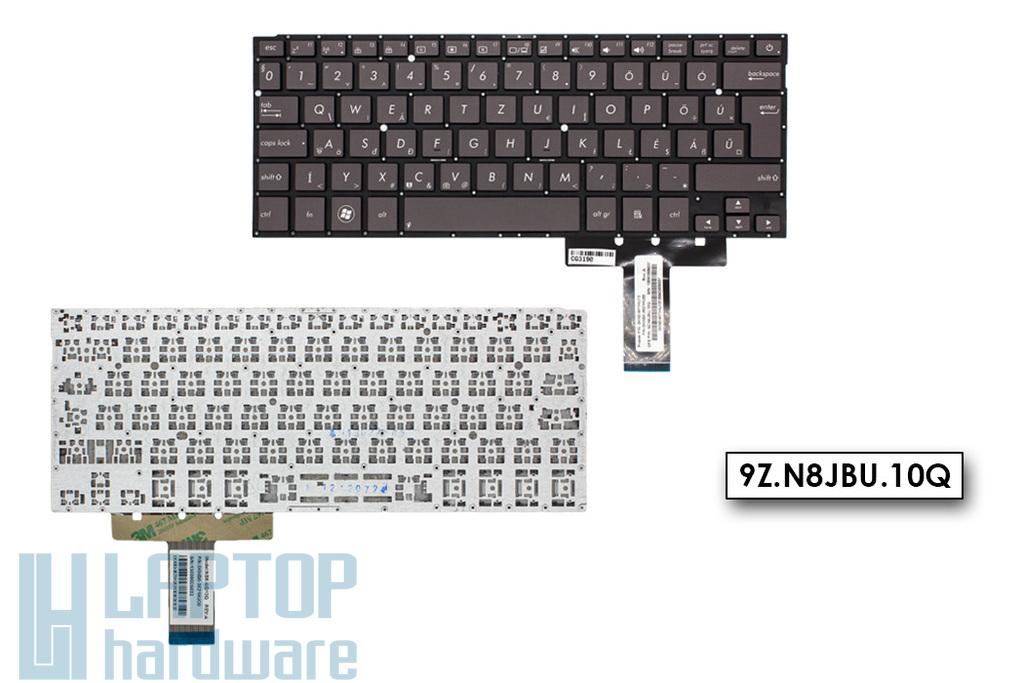 Asus ZenBook UX32A, UX32VD gyári új magyar szürke keret nélküli laptop billentyűzet (0KNB0-3621HU00, NSK-UQ10Q)