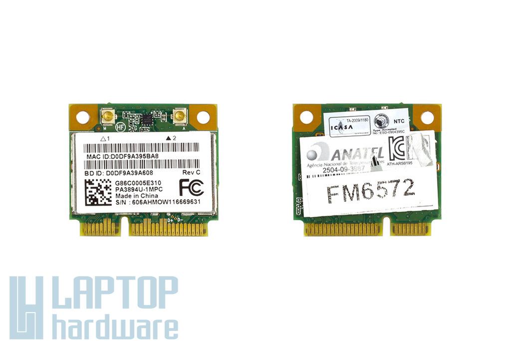 Atheros AR5B195 használt Mini PCI-e (half) WiFi kártya Toshiba Satellite L755D laptophoz (G86C0005E310)