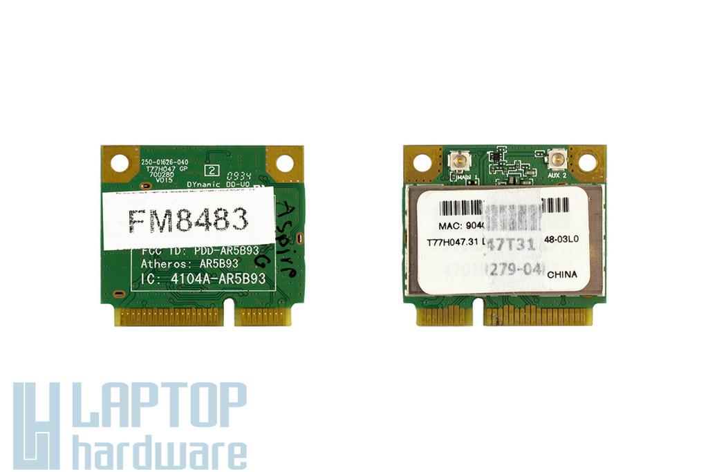 Atheros AR5B93 használt Mini PCI-e WiFi kártya Acer laptophoz (AR5B93, RCPATAR09-0167)