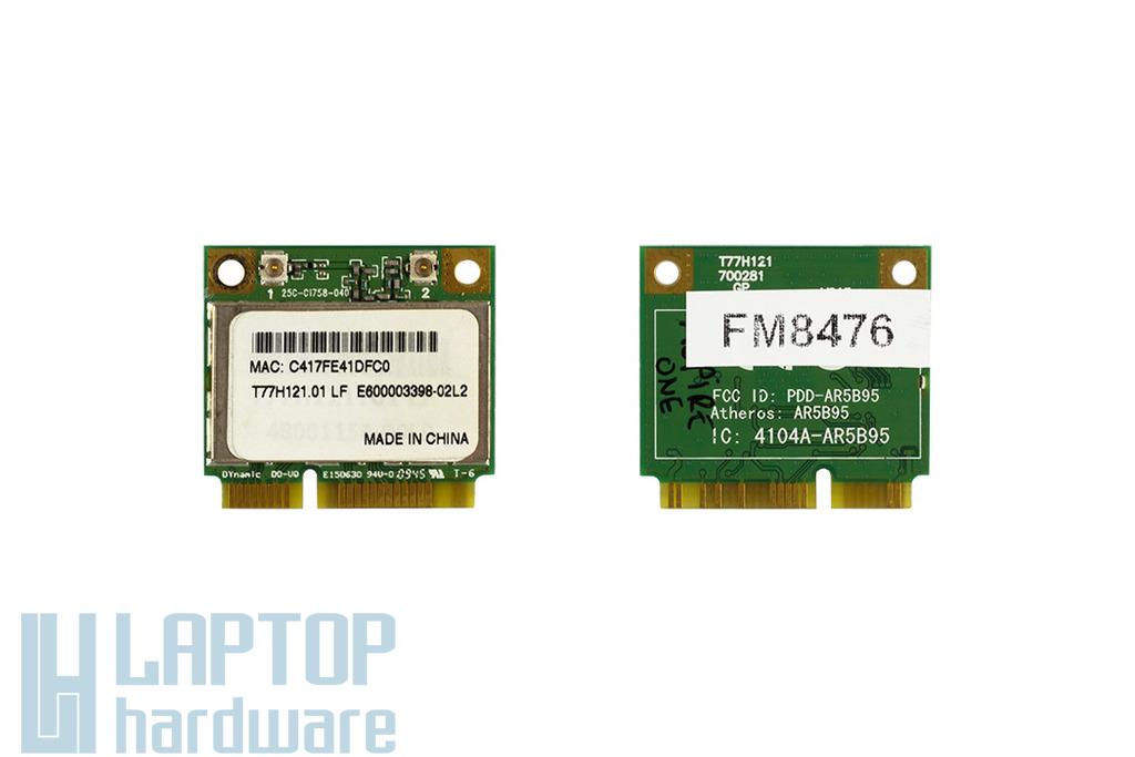 Atheros AR5B95 használt Mini PCI-e (half) WiFi kártya HP laptophoz (T77H121.05)