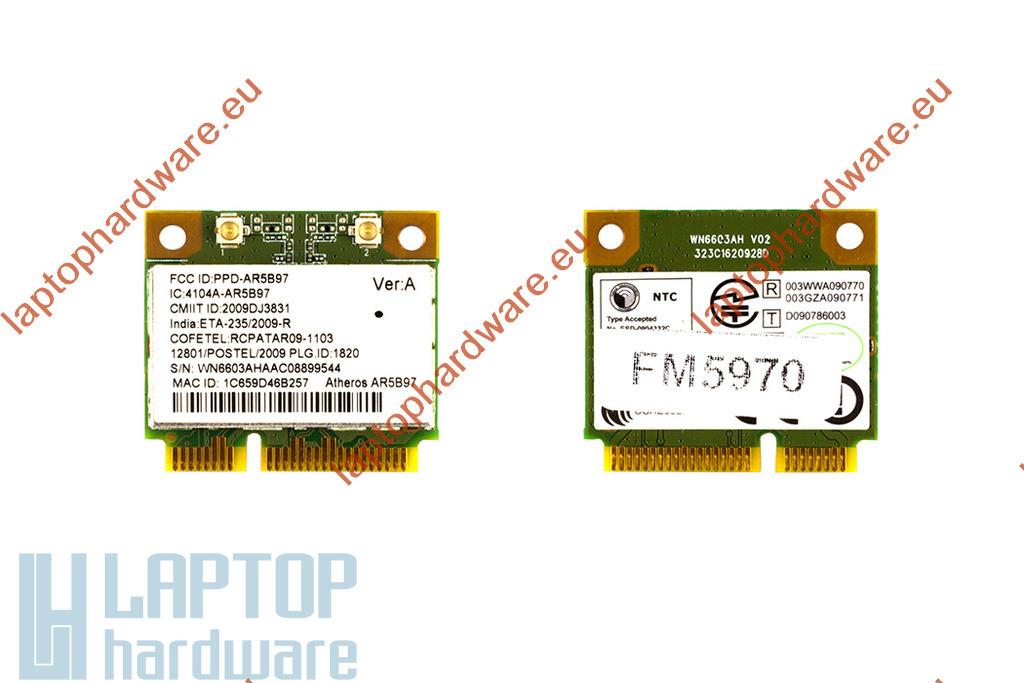 Atheros AR5B97 gyári új Mini PCI-e (half) WiFi kártya (4104A-AR5B97)