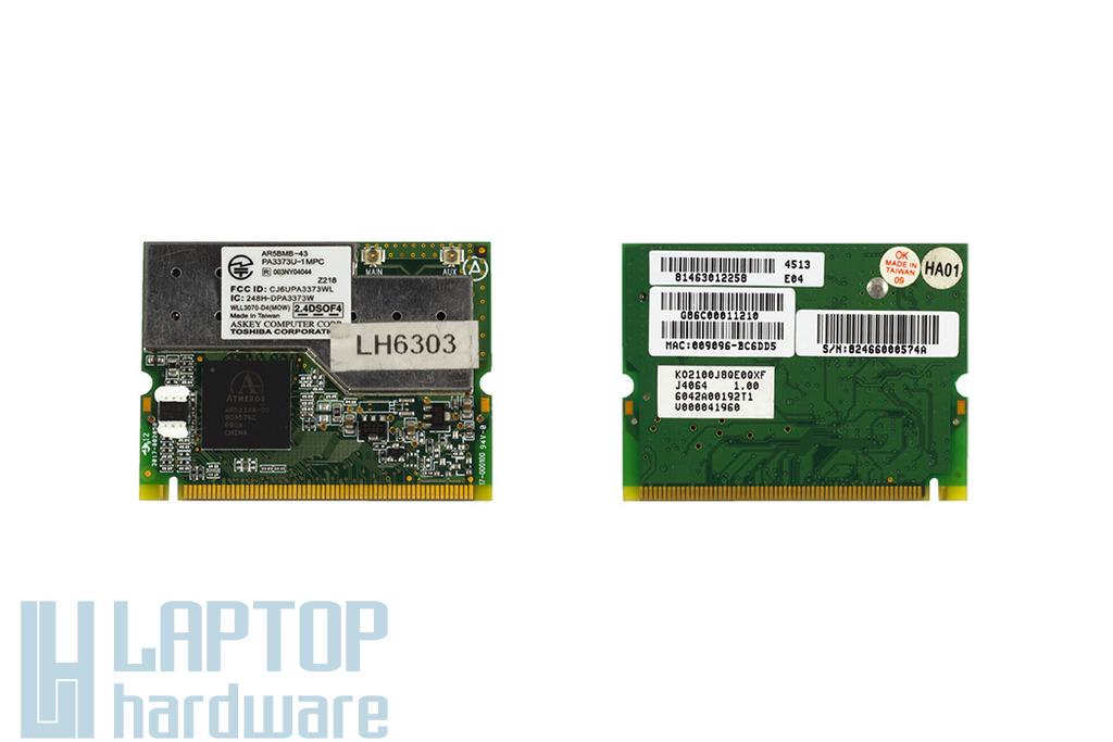 Atheros AR5BMB-43 használt Mini PCI laptop WiFi kártya