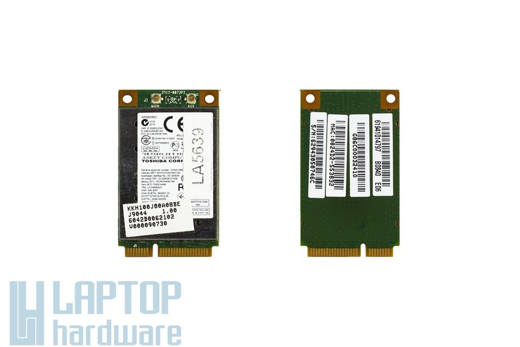 Atheros AR5BXB63 használt Mini PCI-e WiFi kártya Toshiba laptophoz (V000090730)