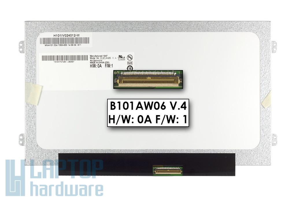 Gyári új matt 10.1'' (1024x600) LED laptop Slim kijelző (csatlakozó: 40 pin - jobb)