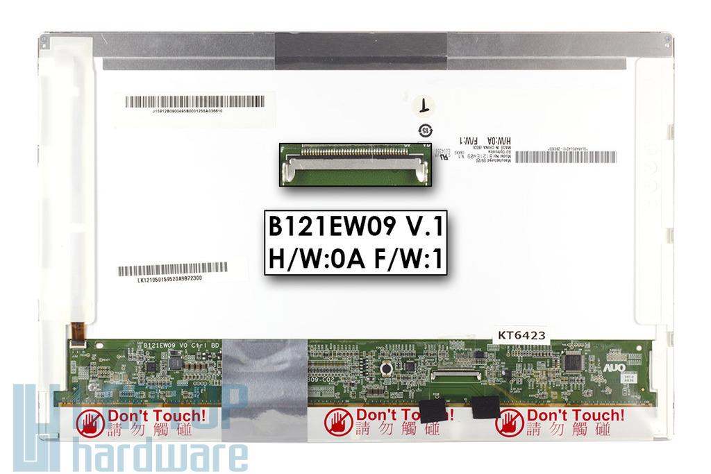 AU OPTRONICS B121EW09 V.1 használt LCD kijelző 12.1