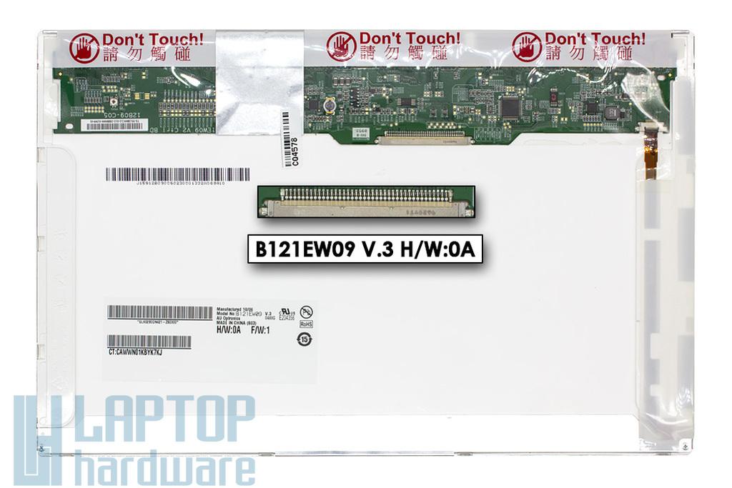 AU Optronics B121EW09 V.3 H/W:0A használt matt 12.1'' (1280x800) LED laptop kijelző (csatlakozó: 40 pin - bal)
