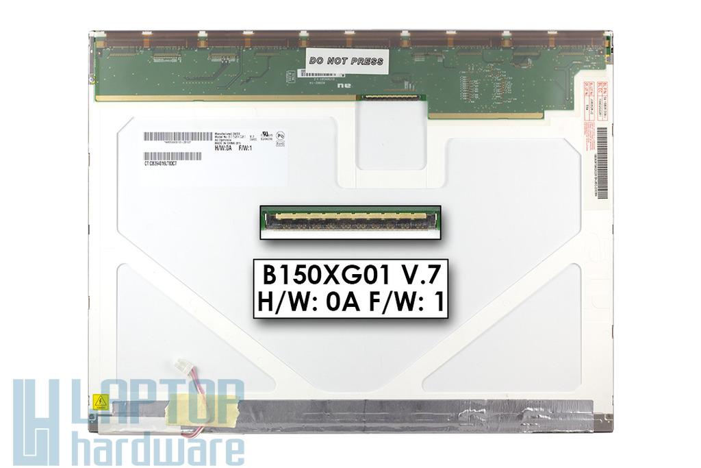 """AU Optronics B150XG01 (V.7) használt 15"""" matt CCFL kijelző"""
