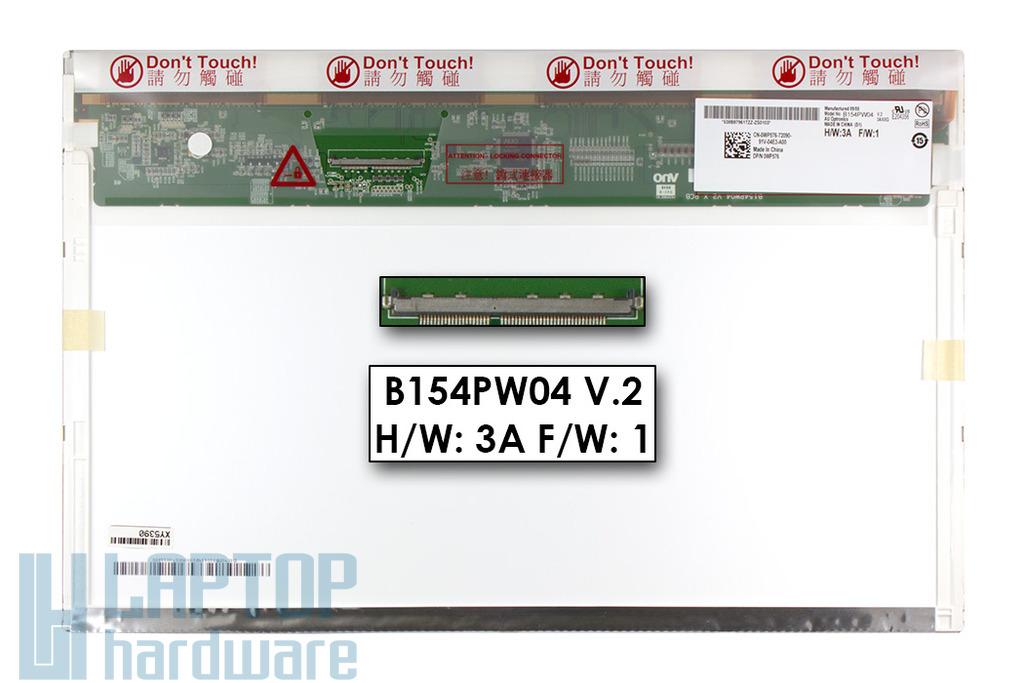 """Gyári új matt 15.4"""" WXGA+ (1440x900) LED laptop kijelző (csatlakozó: 50 pin - jobb)"""