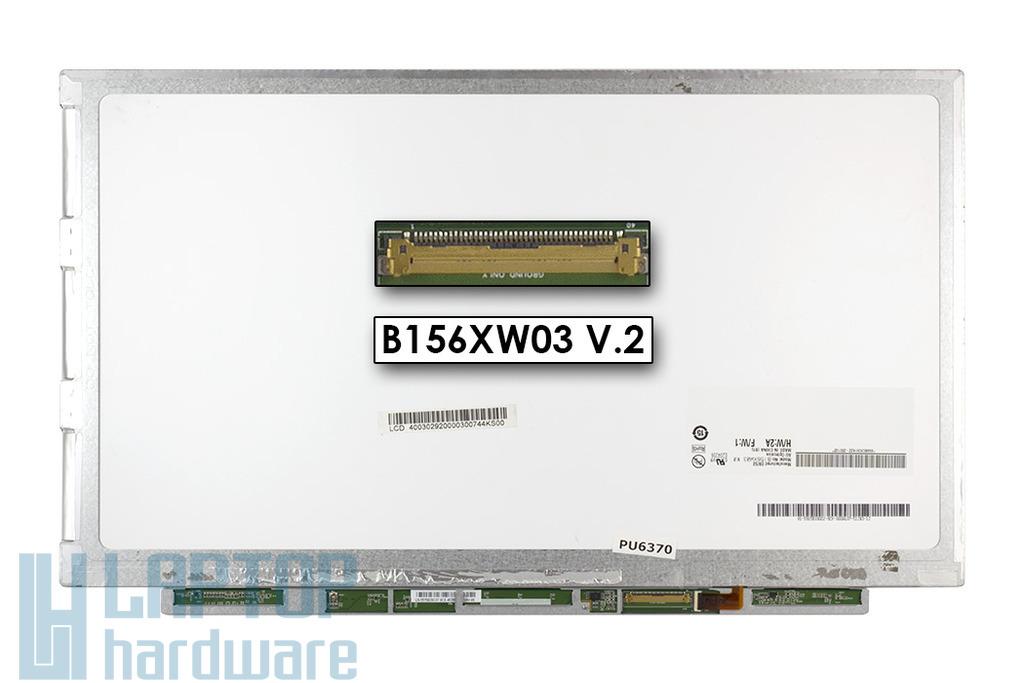 AU Optronics B156XW03 V.2 használt  HD(1366*768) SLIM LED kijelző