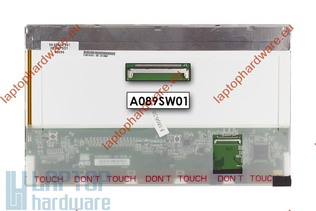 """Gyári új matt 8.9"""" (1024x600) LED laptop kijelző (csatlakozó: 40 pin - bal)"""