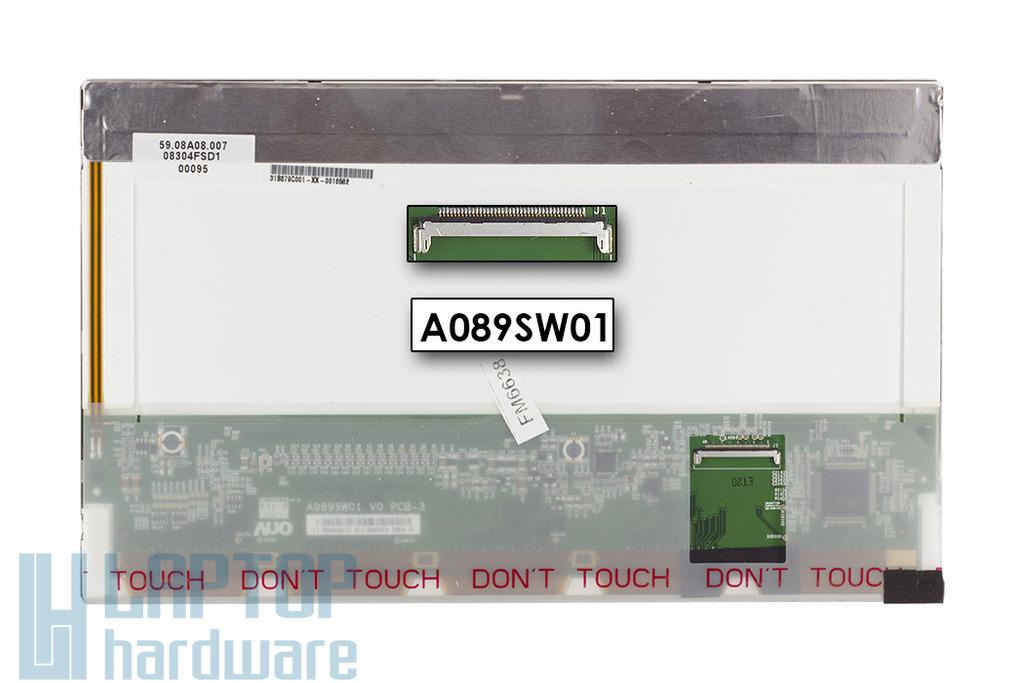 """AUO 8.9"""" használt matt LED netbook kijelző (A089SW01),(59.08A08.011)"""