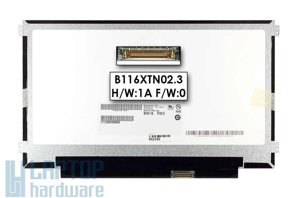 Gyári új matt 11.6'' HD (1366x768) eDP LED laptop Slim kijelző (csatlakozó: 30 pin - jobb)