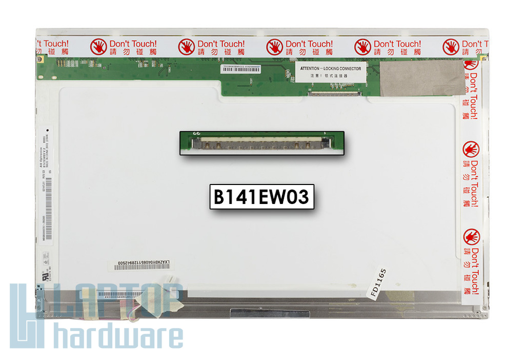 """AUO B141EW03 V.2 14,1"""" WXGA 1280x800 használt matt notebook kijelző"""