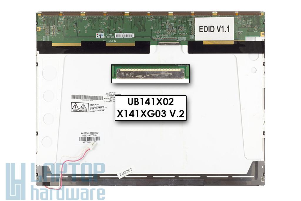 AUO B141XG03 EDIDV1.1 14,1'' XGA használt notebook kijelző