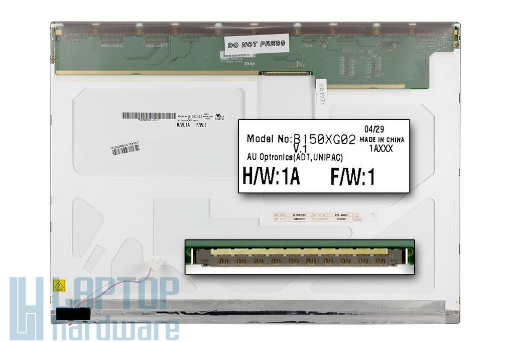 AUO B150XG02 V.1 15'' XGA használt laptop kijelző