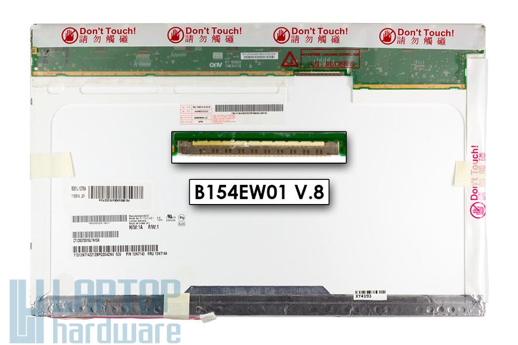 AUO B154EW01 V.8 15.4-inch WXGA 1280x800 használt matt laptop kijelző