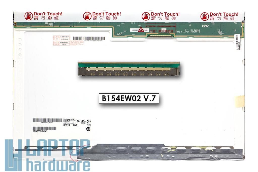 AUO B154EW02 V.7 15,4'' WXGA (1280x800) CCFL használt B kategóriás fényes laptop kijelző