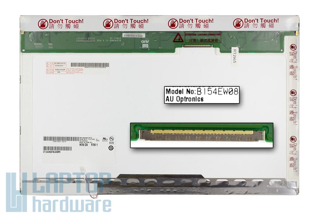 AUO B154EW08 V.1 15,4 inch CCFL WXGA 1280x800 használt B kategóriás fényes laptop kijelző