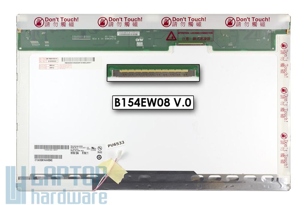 AUO B154EW08 15,4 inch CCFL WXGA 1280x800 használt matt laptop kijelző