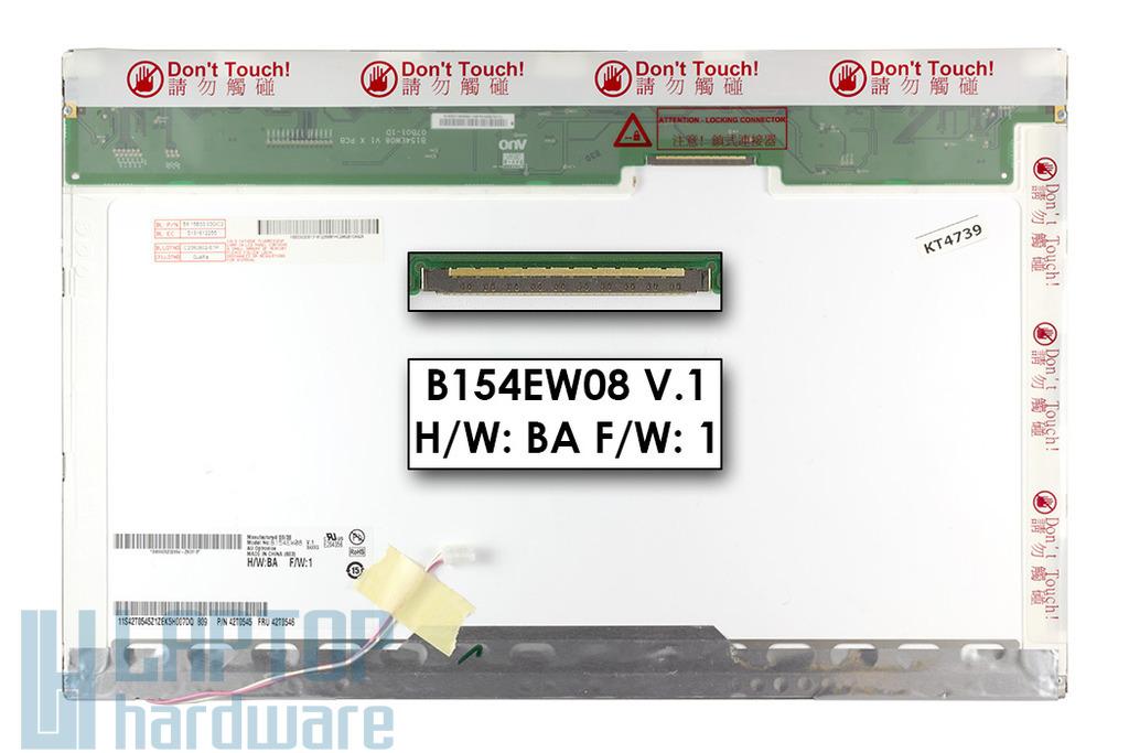 """AUO B154EW08 """"C"""" kategóriás használt laptop kijelző"""