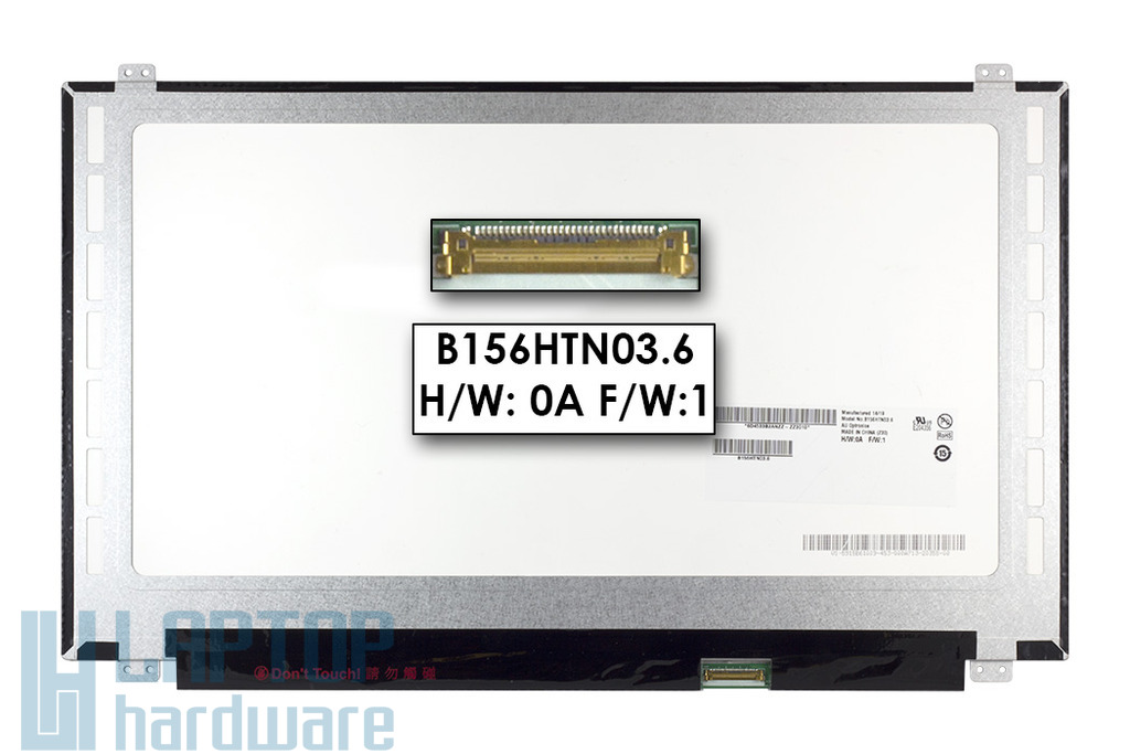 AUO B156HTN03.6 15,6 inch 1920x1080 Full HD eDP slim LED használt matt laptop kijelző