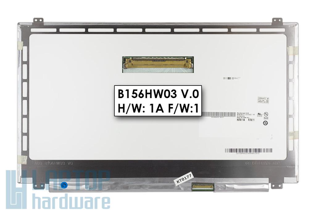 Gyári új fényes 15.6'' FULL HD (1920x1080) LED laptop Slim kijelző (csatlakozó: 40 pin - jobb)