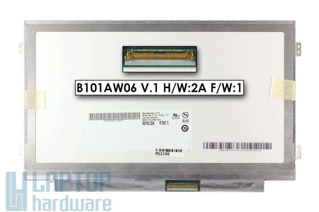 """Gyári új fényes 10.1"""" WSVGA (1024x600) laptop Slim kijelző (csatlakozó: 40 pin - jobb) Lenovo IdeaPad S10-3 laptopokhoz"""