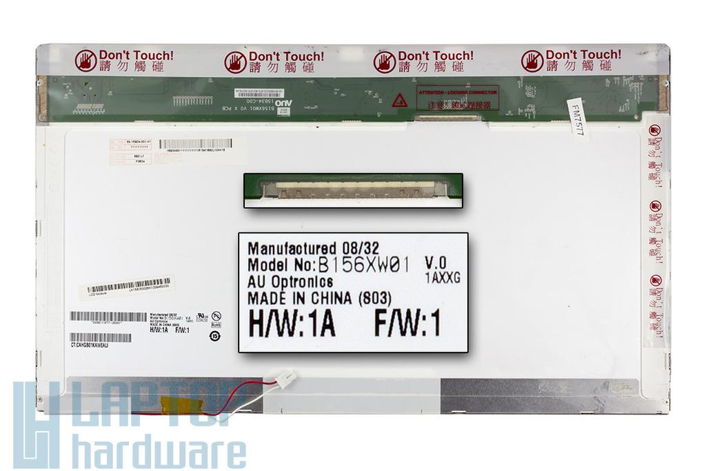 AUO B156XW01 1366x768 HD CCFL használt fényes laptop kijelző