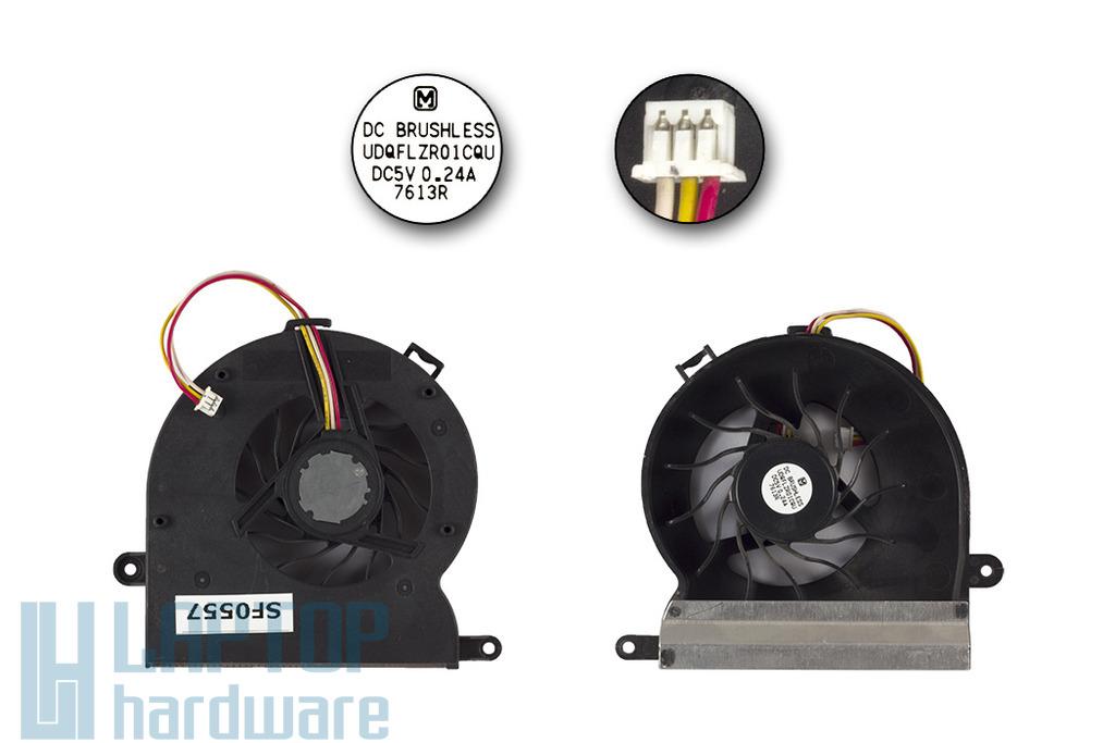 BENQ JoyBook A52, A52E használt laptop hűtő ventilátor, 3 pines (UDQFLZR01CQU)