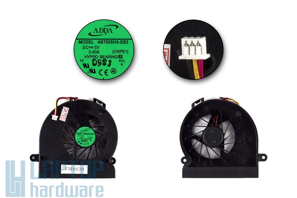 BENQ JoyBook A53, A53E laptop hűtő ventilátor,  AB7605HX-EB3