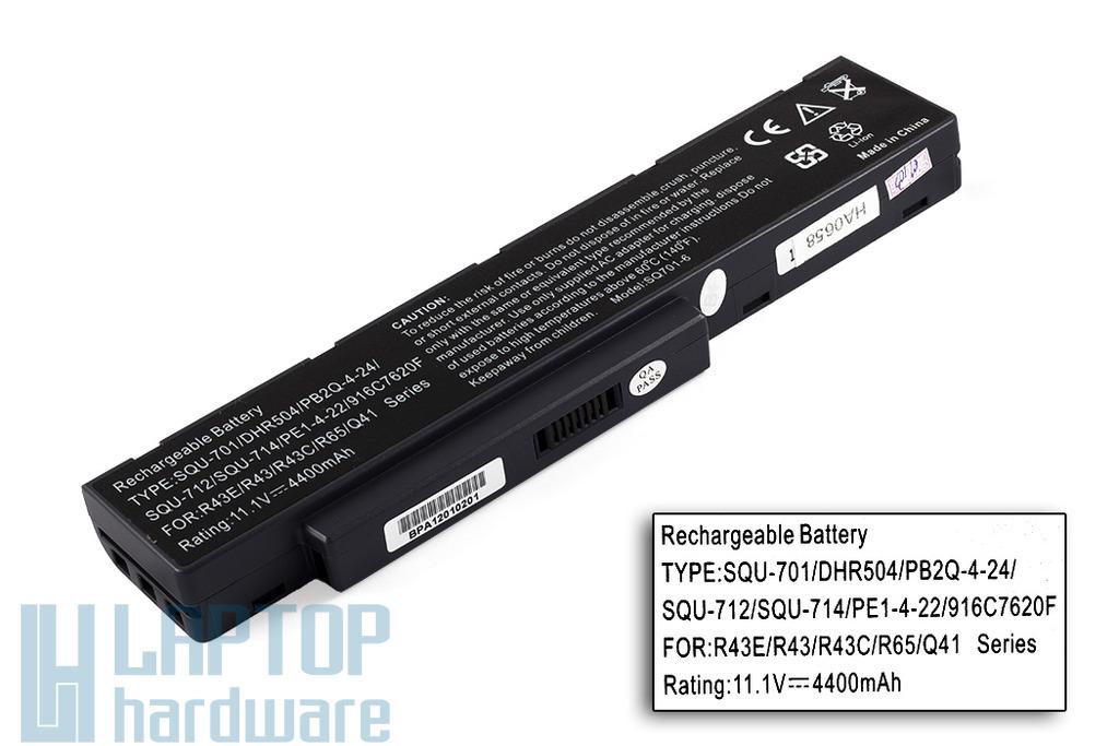 SQU-701 helyettesítő új 6 cellás laptop akku/akkumulátor