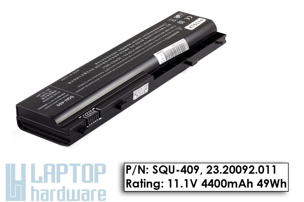 SQU-409, SQU-416 helyettesítő új 6 cellás laptop akku/akkumulátor