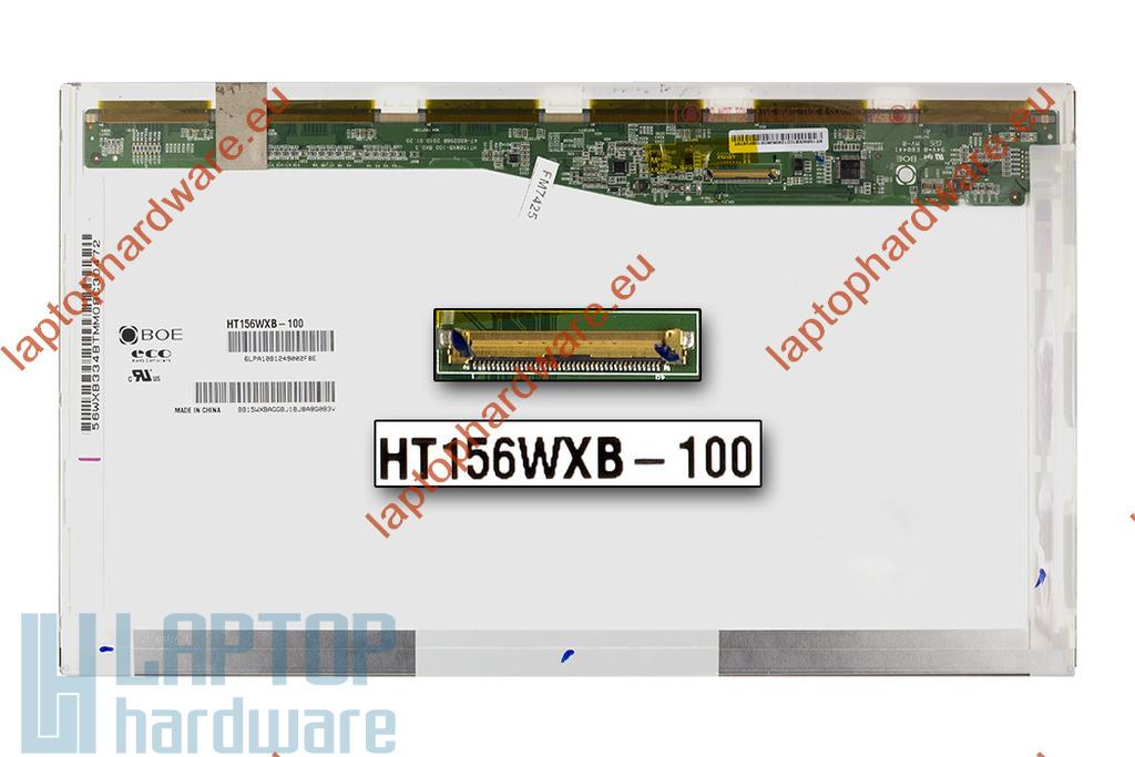 BOE HT156WXB-100 15,6 inch WXGA 1366x768 fényes használt laptop kijelző