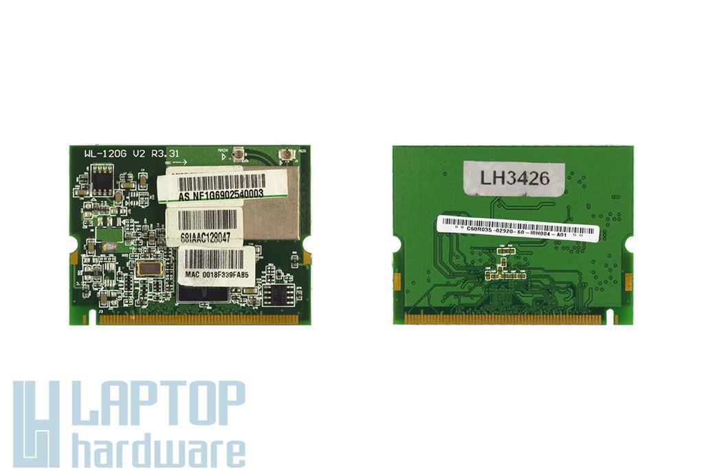 Broadcom BCM4318KFBG használt Mini PCI WiFi kártya Asus laptophoz (WL-120G V2)