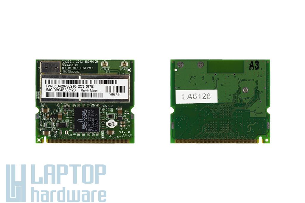 Broadcom BCM94301MP használt Mini PCI WiFi kártya Asus laptophoz