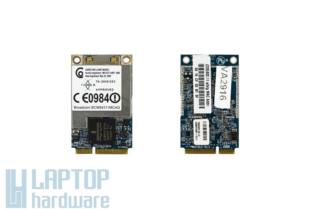 Broadcom BCM94311MCAG használt Mini PCI-e WiFi kártya Lenovo laptophoz (41W1297)
