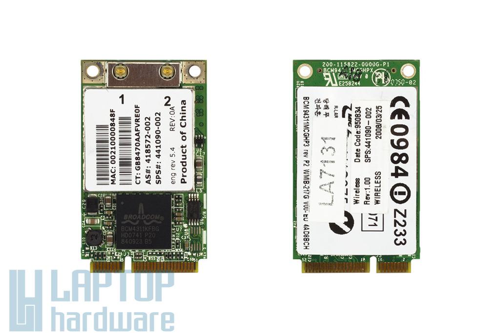 Broadcom BCM94311MCG használt Mini PCI-e WiFi kártya HP laptophoz (441090-002)