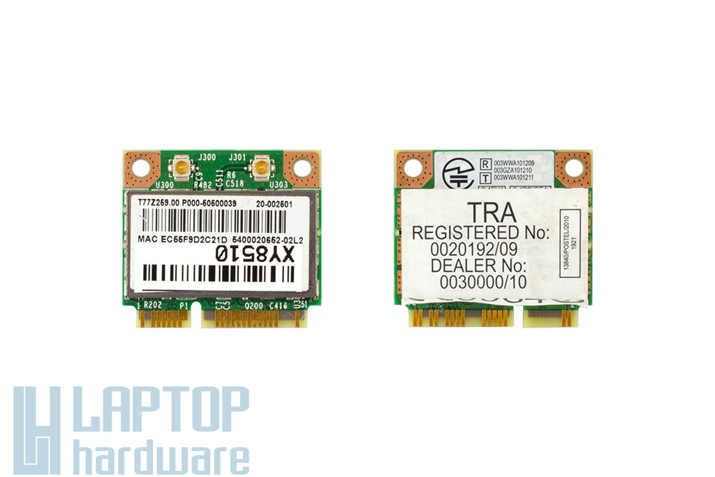 Broadcom BCM94313HMGB gyári új Mini PCI-e (half) laptop WiFi / Bluetooth kártya