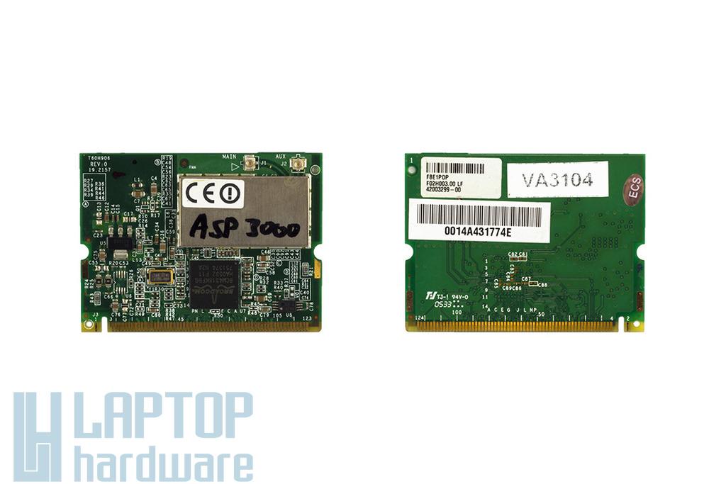 Broadcom BCM94318MPG használt Mini PCI WiFi kártya Acer laptophoz (T60H906.01)