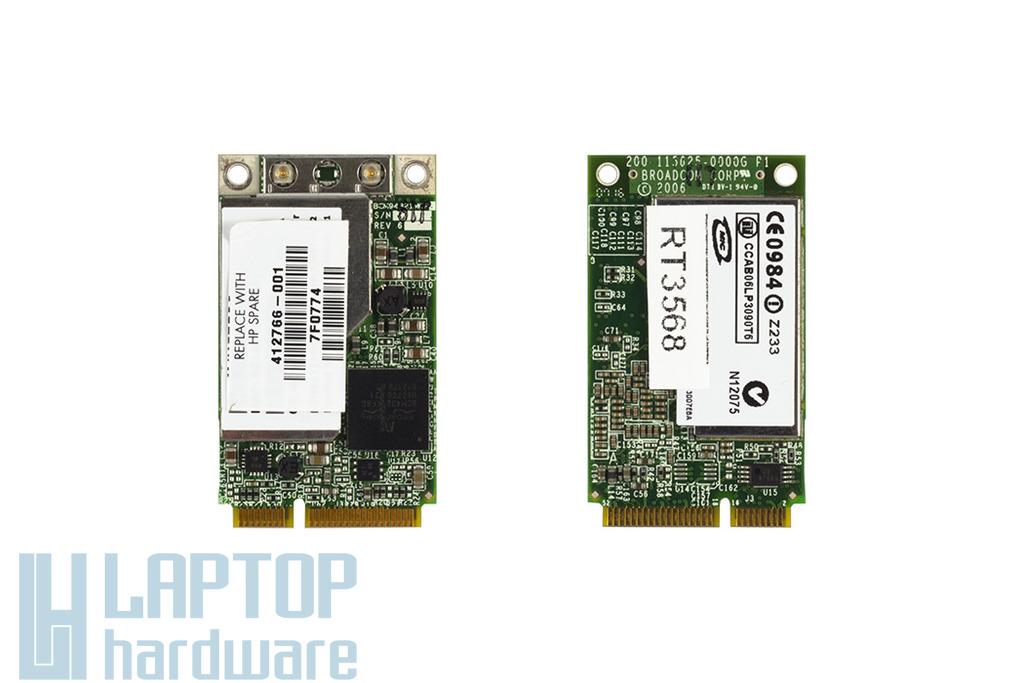 Broadcom BCM94321MCP3 használt Mini PCI-e WiFi kártya HP laptophoz (412766-001)