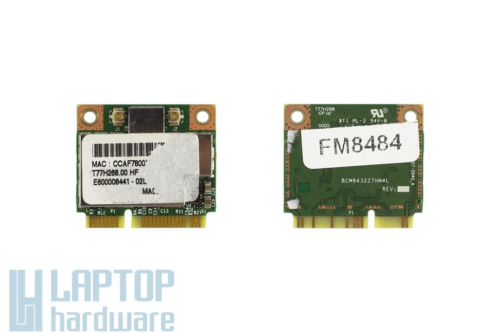 Broadcom BCM943227HM4L használt Mini PCI-e (half) laptop WiFi kártya