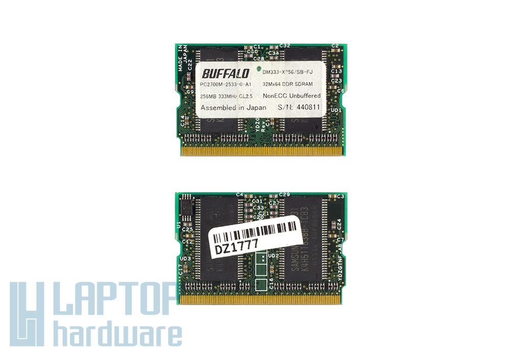 Buffalo 256MB 333MHz microDIMM DDR RAM memória, DM333-X256/SB-FJ